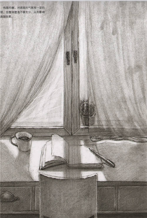 清华美院往年设计素描高分卷图片