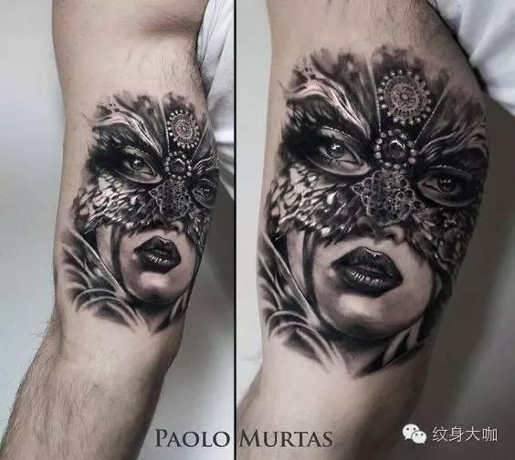 纹身素材:面具