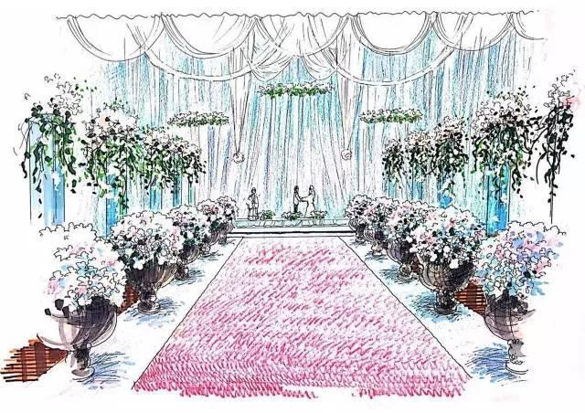 大型婚礼手绘效果图