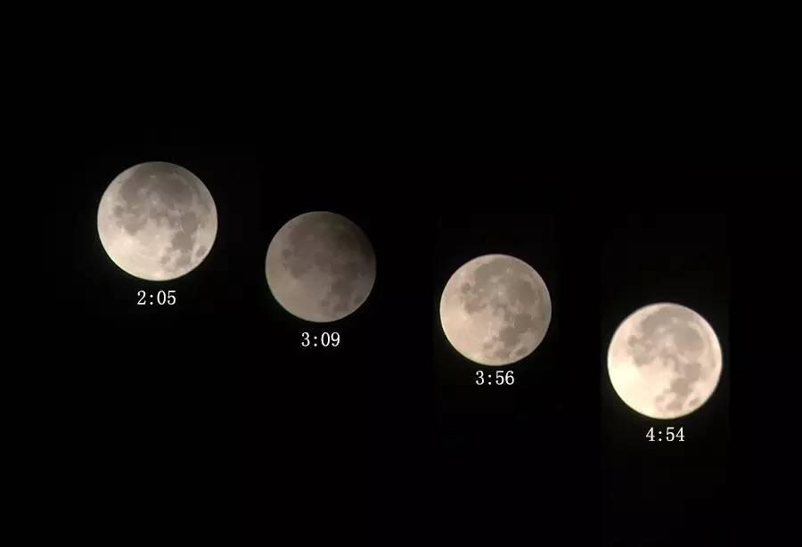 半影月食变化过程.-记录 中秋最圆月 半影月食全程