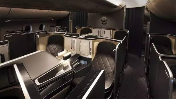 英国航空787-9梦想飞机头等舱上的显示屏