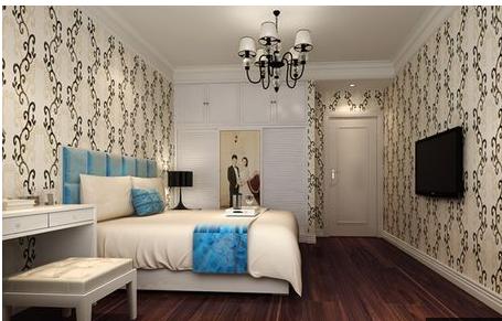 三室两厅100平简欧风格装修预案——主卧装修效果图图片