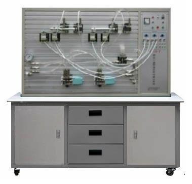 套实训设备,一套为气动与plc实训平台,另一套为液压传动与plc实训平台图片