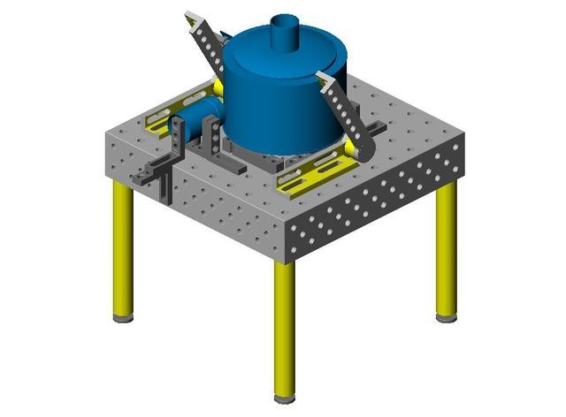 三维柔性焊接工装在管道的应用图片