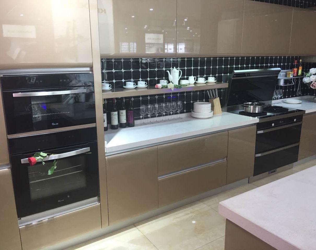 厨房带蒸烤箱的效果图