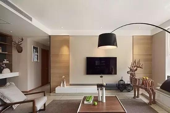 木板(木纹瓷砖)装饰电视墙(2).图片