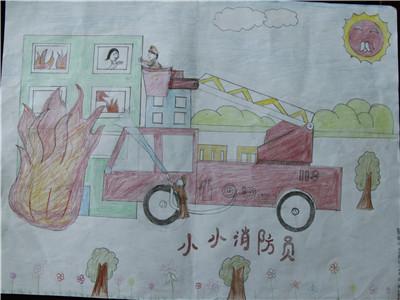 黄南消防支队组织开展我是小小消防员绘画比