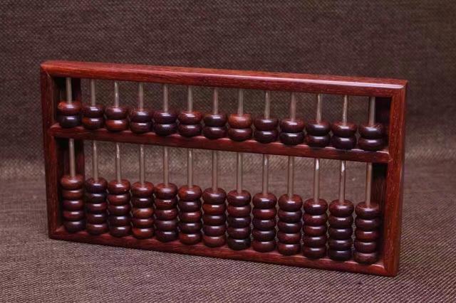 小叶紫檀「算盘」精工榫卯结构