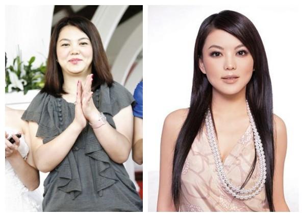 李湘胖瘦对比照图片