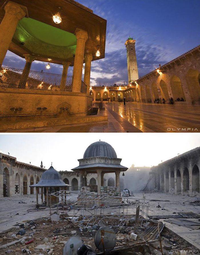 感激故国,让我们如此幸福,叙利亚战争前后比对图