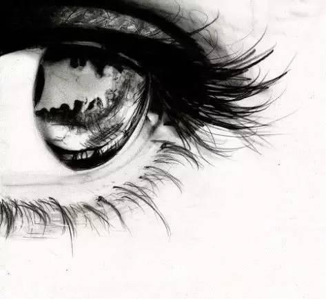 【素描教程】超写实人物眼睛素描画法步骤