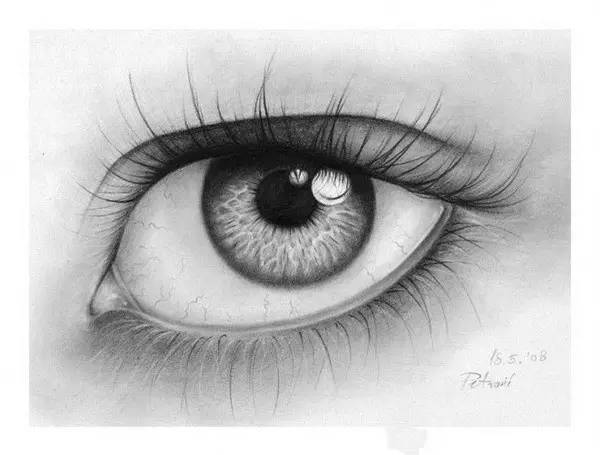 素描眉毛的画法图图片