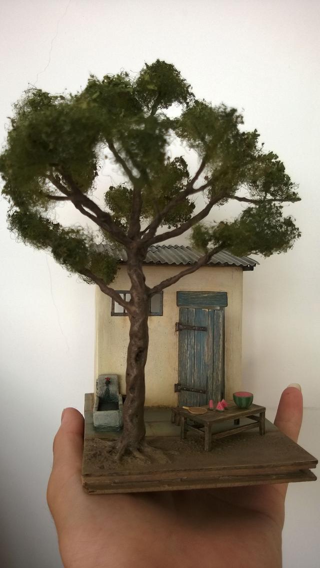 国内手工diy达人制作的「迷你仿真房屋模型」