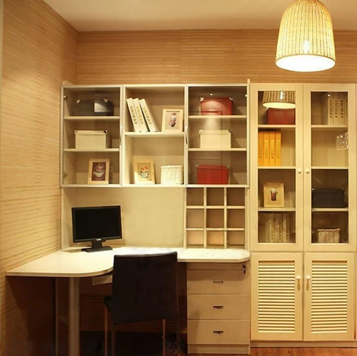 这么赞的书桌书柜组合,你喜欢吗?图片