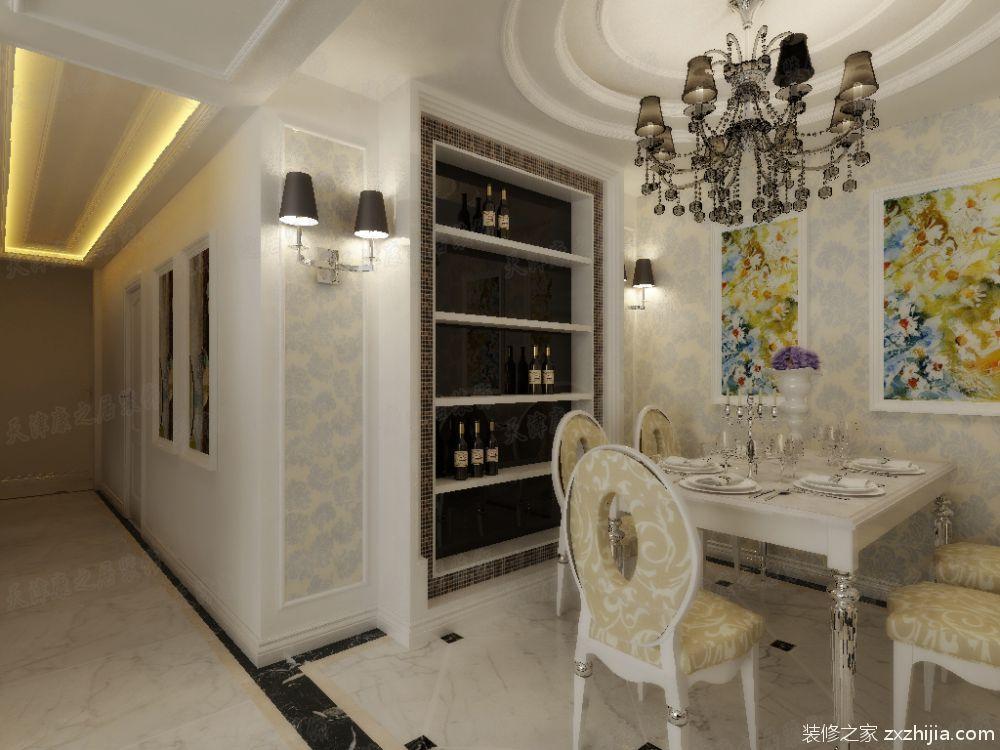 房产 正文  设计风格为白色简欧,突出造型,壁纸,家具的质感.图片