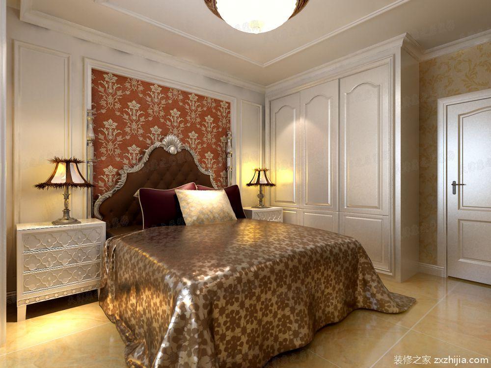 华夏国际公寓简欧风格卧室效果图图片