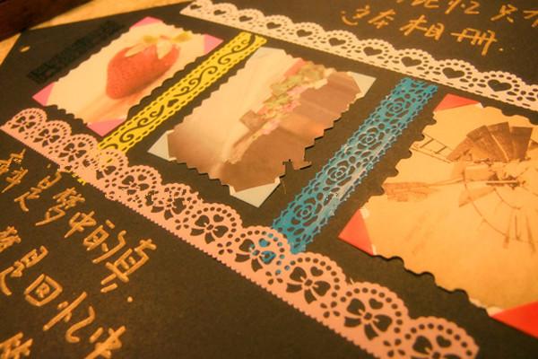 其它 正文  diy相册设计手绘图所需材料:手工相册一本,花边剪刀,多色