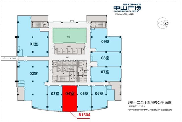 金虹桥商务广场平面图