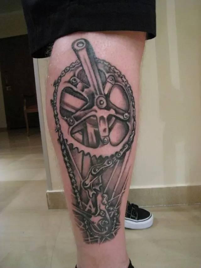 自行车纹身有多美?看完你就知道了!图片