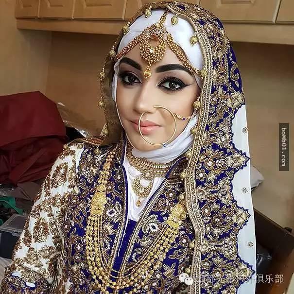 穆斯林女性的婚纱头巾 比你想象的还要美