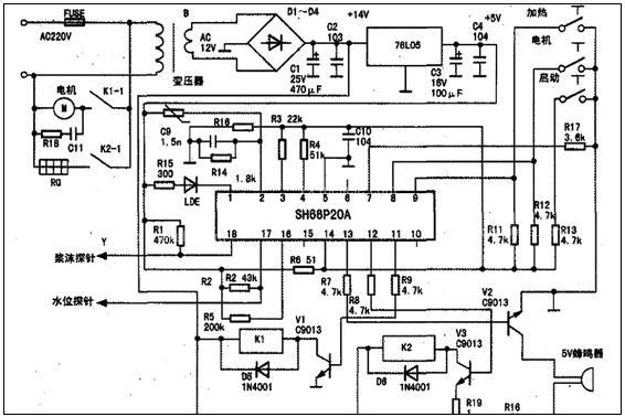 九阳豆浆机电路图原理介绍