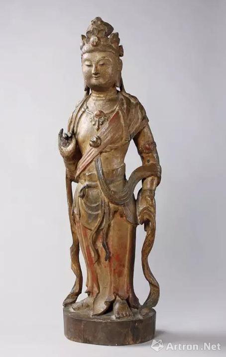 宋-元 木雕观音立像h 56.5 cm 估价:hk$ 750,000   1,000,000