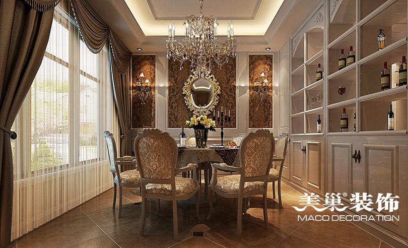 马渡别墅220平欧式古典风格装修效果图