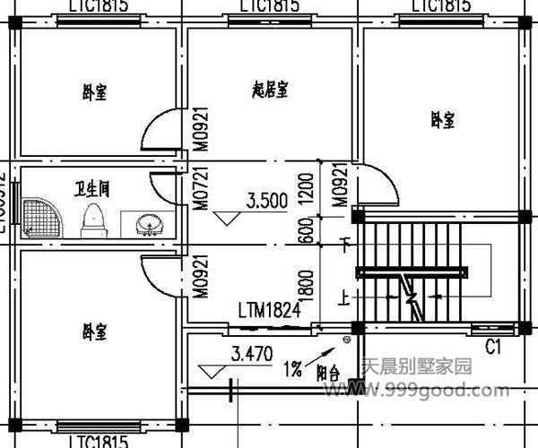 新农村自建房 农村别墅三层(带堂屋)最受人欢迎的