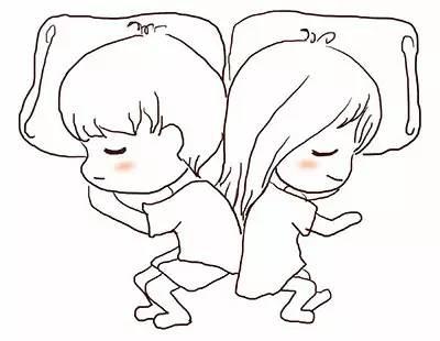 睡觉简笔画-情侣间最受欢迎的10种睡姿,你们平时是怎么睡的