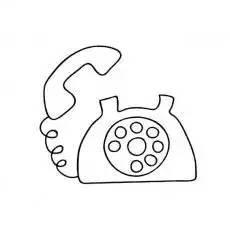 家庭电话简笔画图片 简笔画网