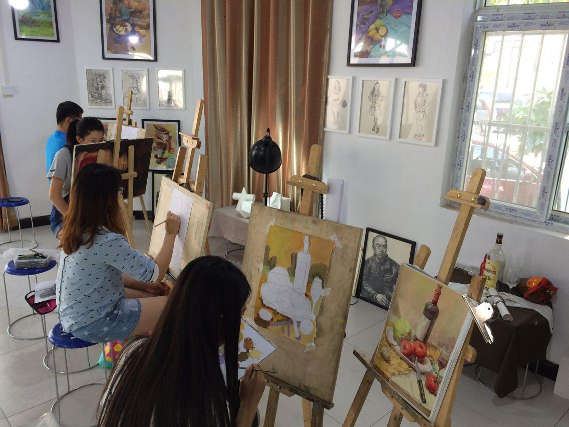 朝阳区双桥美术培训 三人行画室