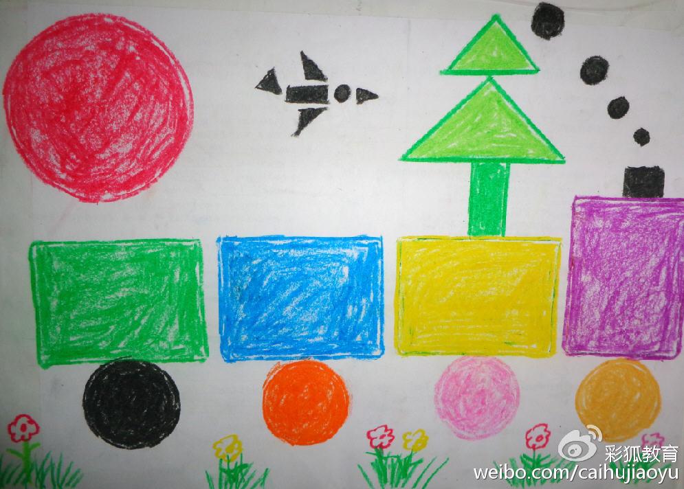 幼儿树点彩画图片