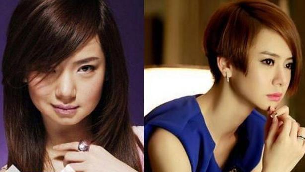 刘亦菲素颜照短发