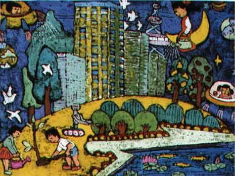 2000年少儿科幻画正式成为每年一届的全国青少年科技创新大赛的四大组图片