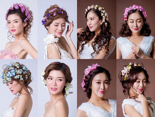 超人气鲜花浪漫扎发编发盘发鲜花新娘发型大全