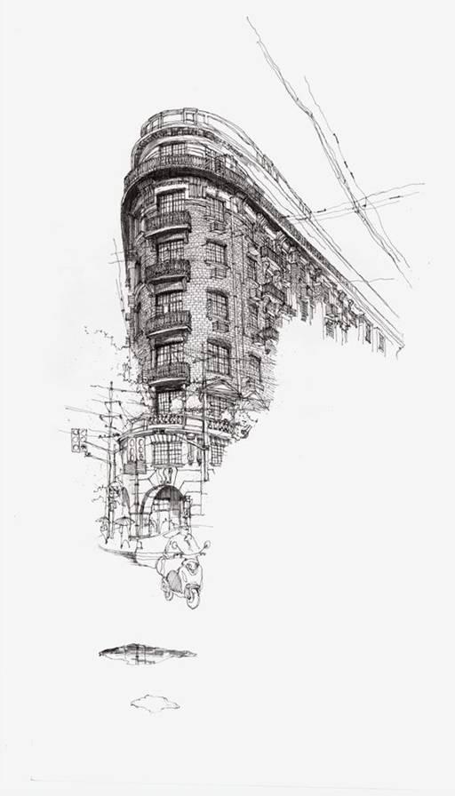 钢笔画 上海建筑钢笔画速写图片,建筑钢笔画图片,钢笔画图片,钢笔画速写图片 来源于品牌设计网