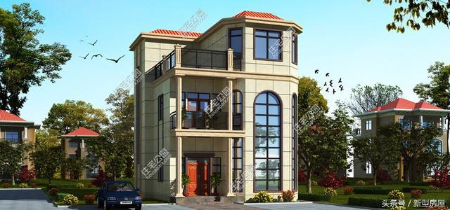 带罗马柱别墅屋顶设计