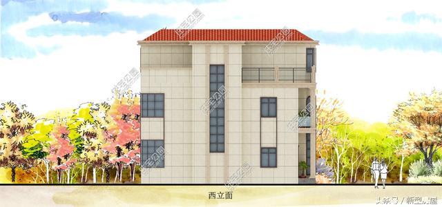 新农村兄弟双拼二层半欧式别墅自建房设计图