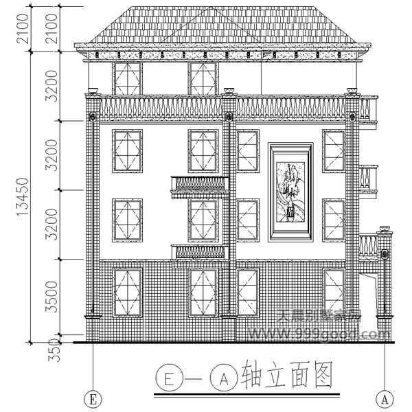 三层半农村自建房 欧美风农村别墅13x13米 经典不得