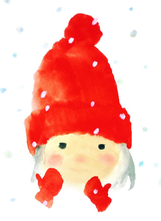 红帽子女孩
