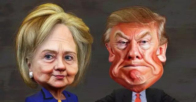 1亿人围观首辩!川普vs希拉里=最全段子+表情包图片