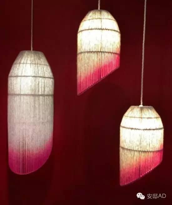 由英国本地的羊毛制作的吊灯灯罩
