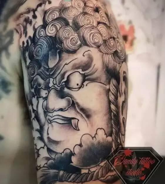 纹身素材:不动明王