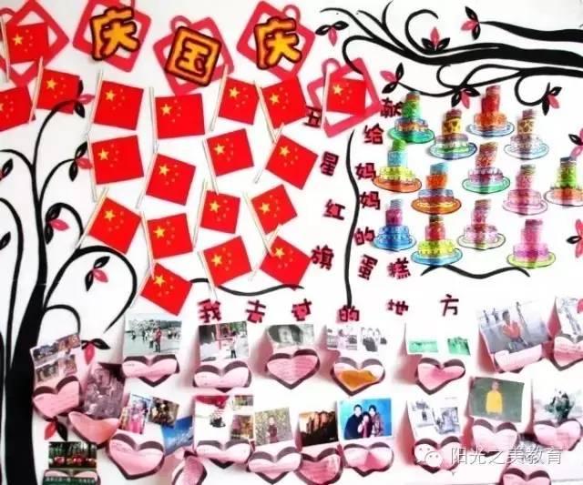 国庆节主题墙与手工活动