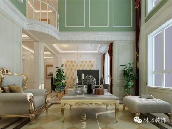 中海寰宇天下四室三厅一厨三卫欧式风格装修效果图