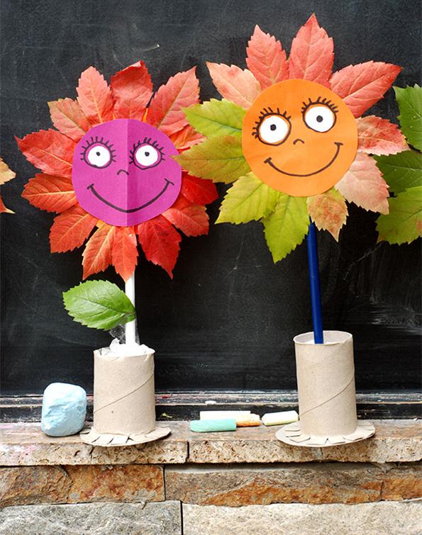 幼儿园亲子手工制作之秋天的花