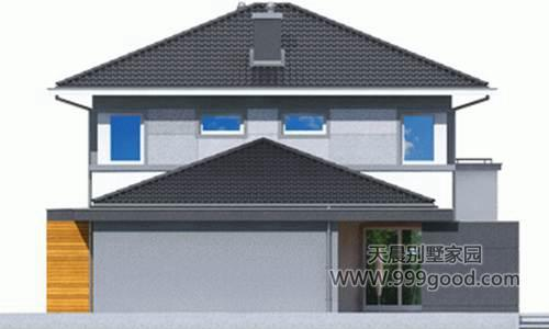 新农村自建房 二层农村别墅(全图)古朴与现代的结