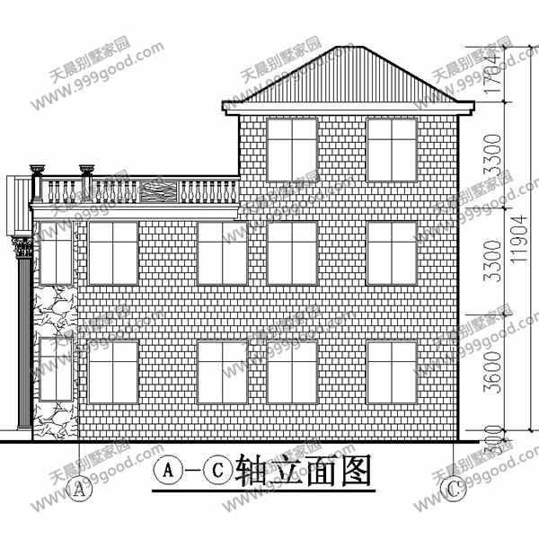 新农村三层自建房设计图纸图片