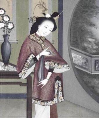 古代美人怀孕手绘图片