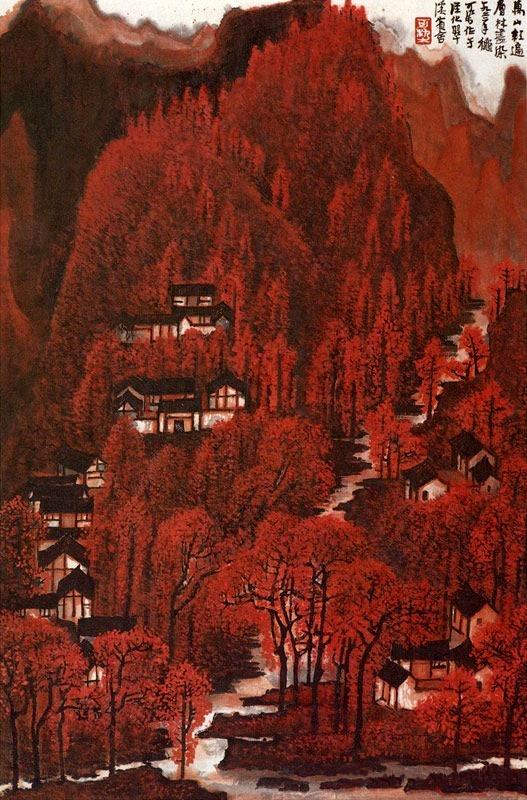 李可染《万山红遍》共有7幅传世